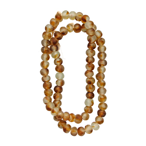 Recycled Glass Bead Strand - Tortoise Shell