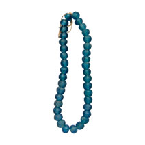 Recycled Glass Bead Strand - Dusty Blue
