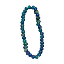 Recycled Glass Bead Strand - Blue/Green