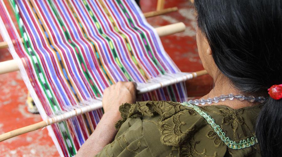 Meridian | Guatemalan Textile Backstrap Loom Weaving
