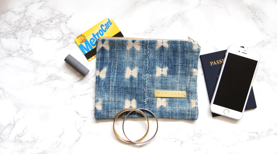 Meridian | Vintage Indigo Zipper Pouch - The Commute Commander