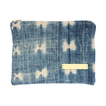 Meridian | Vintage Indigo Zipper Pouch I
