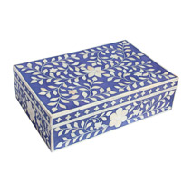 Meridian | Bone Inlay Box - Indigo