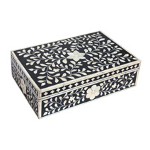 Meridian | Bone Inlay Box - Black