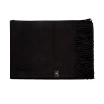 Meridian | Baby Alpaca Throw Blanket - Black