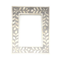 Meridian | Bone Inlay Picture Frame - Grey