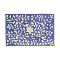 Meridian   Bone Inlay Box - Indigo Floral