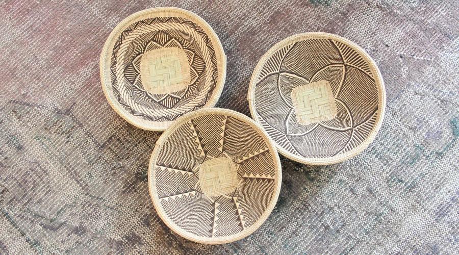Meridian | Woven Palm Baskets from Zimbabwe