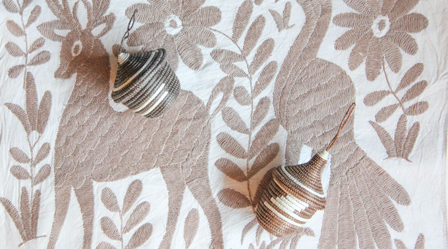 Meridian | Woven Basket Ornaments