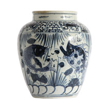 Meridian | Blue and White Porcelain Vase