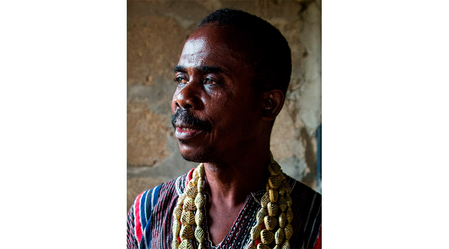 Meridian | Our Ghana artisan liaison wears beads handmade by his family using the ancient process of lost wax casting.