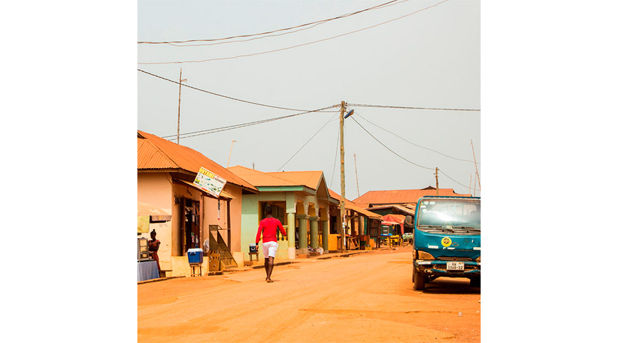 Meridian | This is the main road in the Southern Ghana town where several of our partners live and work.