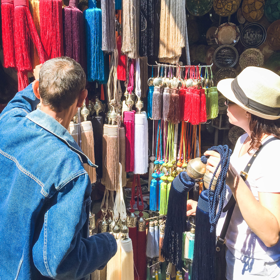 Meridian | Shopping in the souk in Marrakech, Morocco