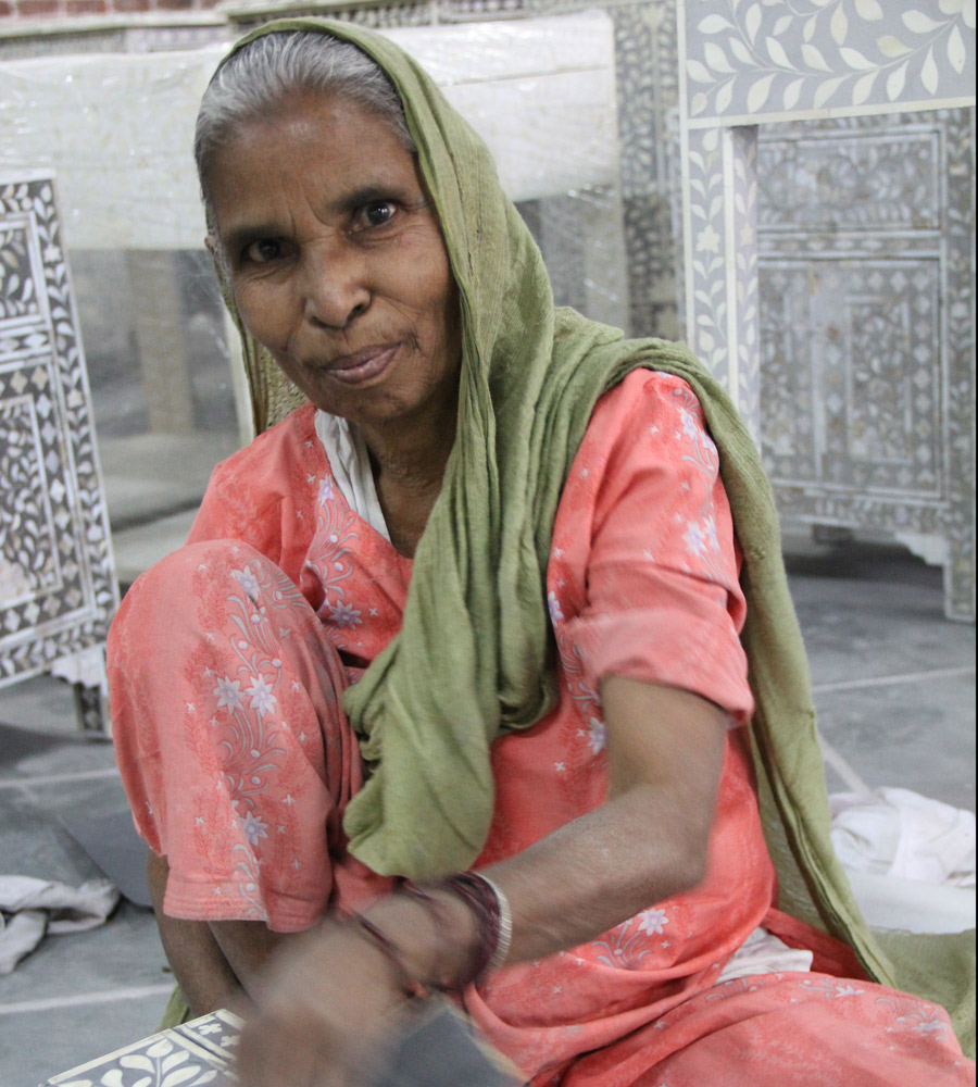 Meridian | Our Bone Inlay partners are a woman-led, family-owned operation in Rajasthan, India.