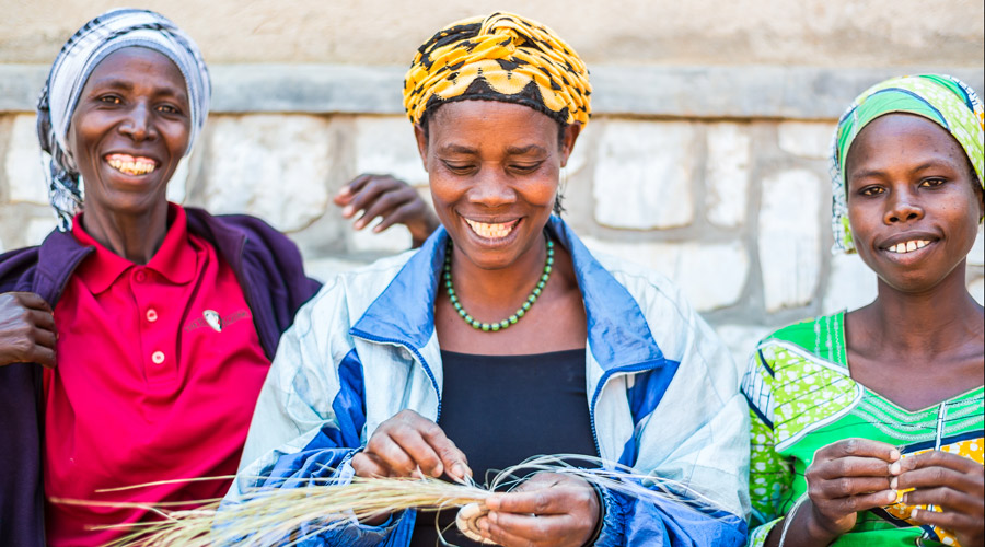 Meridian | Our artisan partners in Rwanda are a Fair Trade women's cooperative that provides quality jobs and advancement to its female members.
