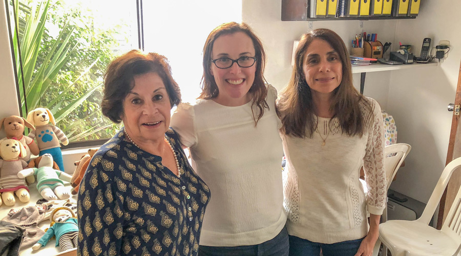 Meridian   Meridian Founder Ashley Viola meets with members of our artisan partner team in Peru.