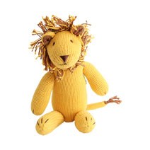 Meridian | Luca the Lion is a Fair Trade knit stuffed animal handmade in Peru.