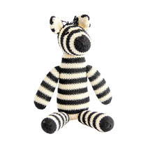 Meridian | Zella the Zebra is a Fair Trade knit stuffed animal handmade in Peru.