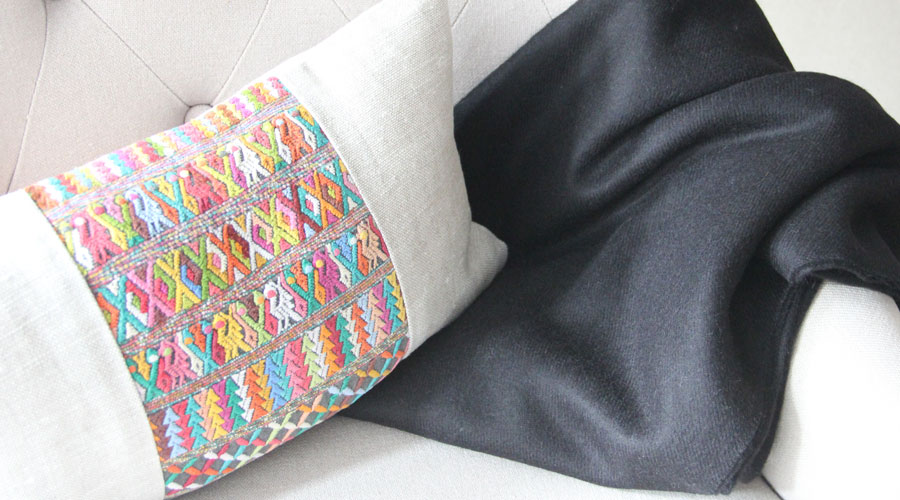 Meridian | Alpaca Blanket and Huipil Pillow