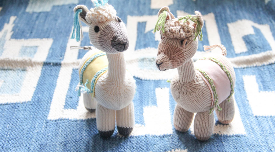 Meridian | Libby and Logan Llama are handmade in Peru
