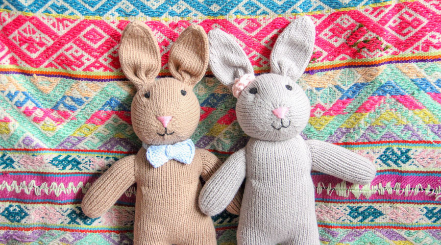 Meridian | Bailey and Brandon the Bunnies are handmade in Peru by our artisan partners.