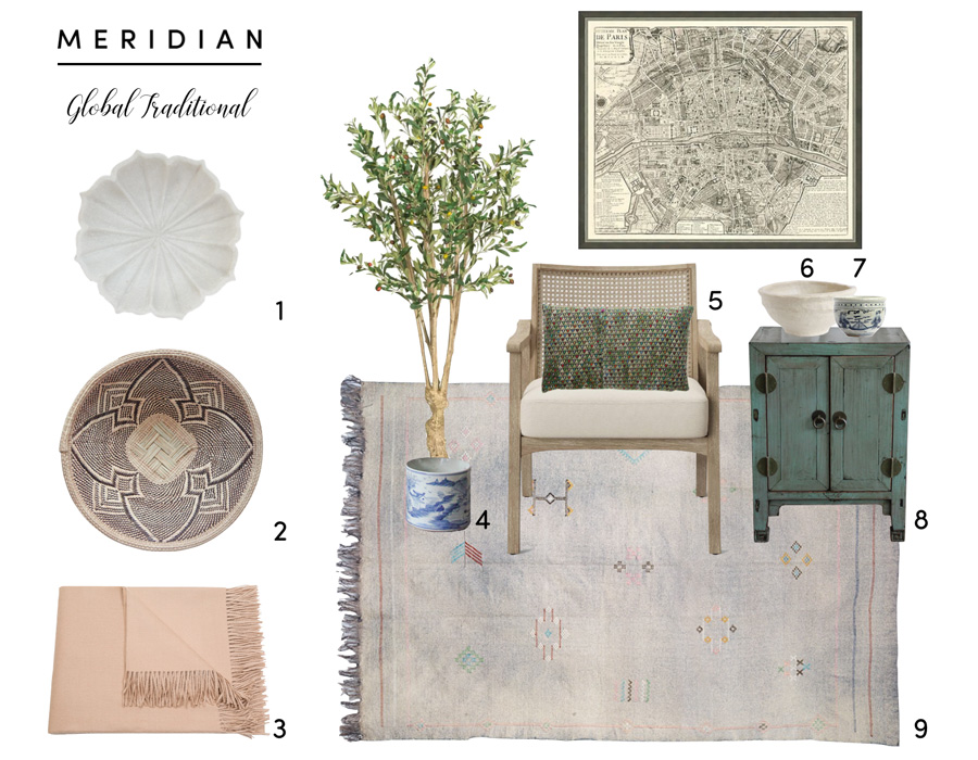 Meridian | Mood Board - Global Traditional Interior Design