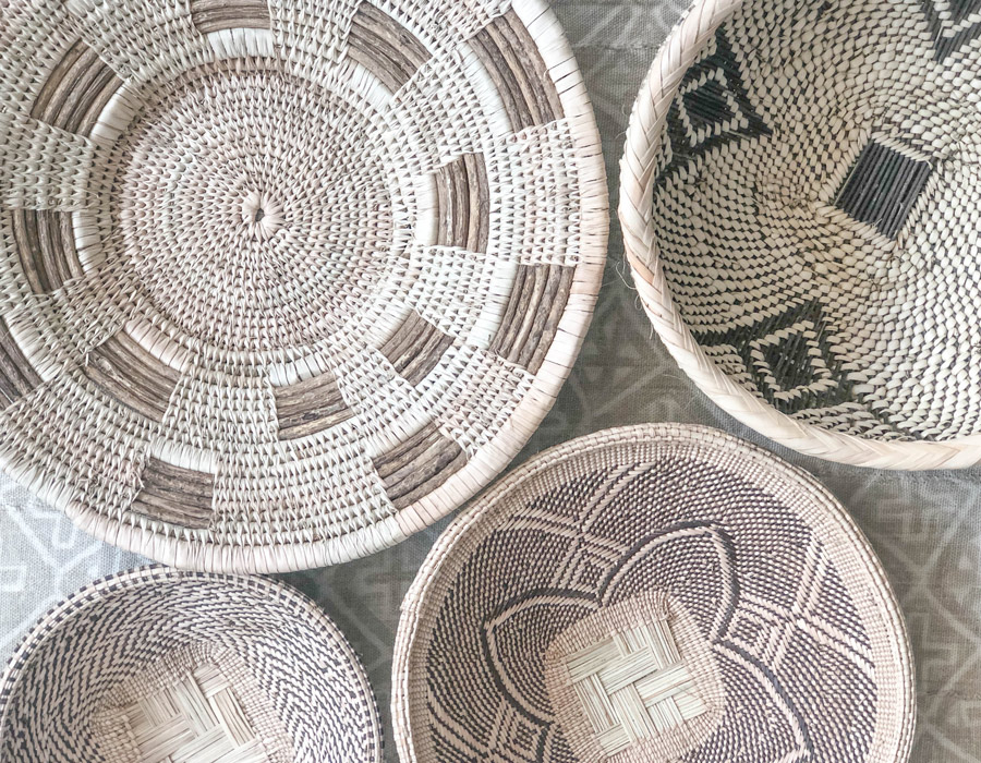 Meridian | Baskets from Matabeleland in Southern Africa are from a very small region, yet present a great variety in weaving styles and patterns.