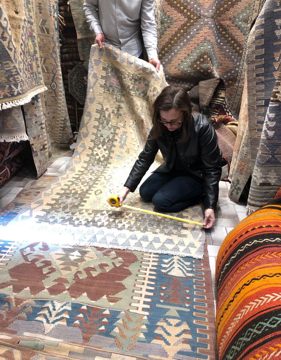Meridian | Founder Ashley Viola shops in Istanbul's Grand Bazaar.