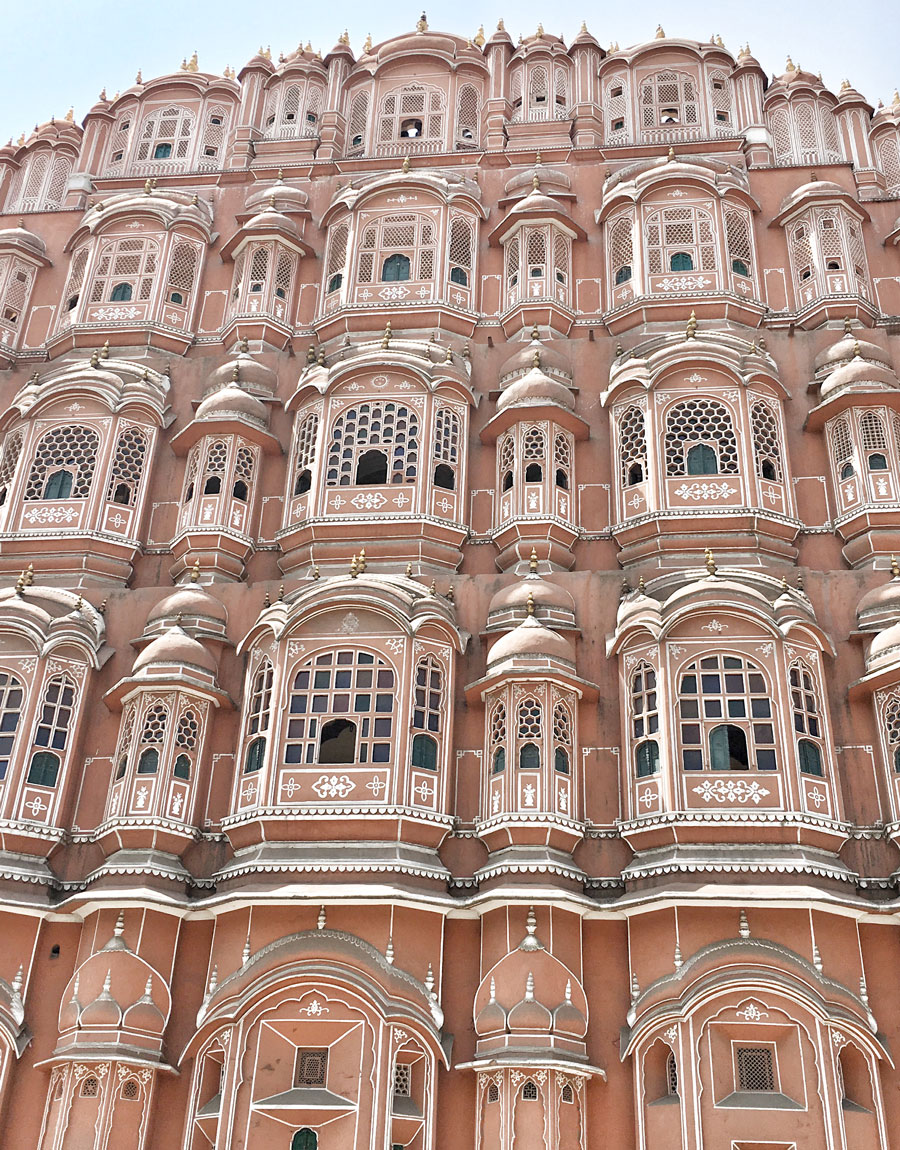 "Meridian | The pink sandstone hued Hawa Mahal is one of the reasons why Jaipur, India is referred to as the ""Pink City."""
