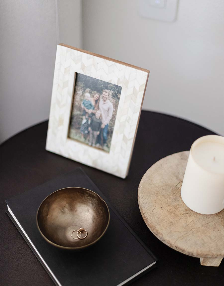 framed photo in the Herringbone Inlay Picture Frame - fall home decor